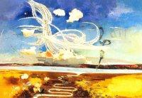 «Битва за Англию» глазами Пола Нэша: в пляске смерти над Темзой «харрикейны» и «спитфайры» Королевских ВВС сцепились с армадой бомбардировщиков Люфтваффе.