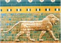 Фрагмент орнамента стены, выложенной глазированными плитками. VII век до н.э. — пора расцвета Вавилона.