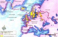 Сначала викинги совершали краткие рейды через Северное море, но их потомки торговали и селились на территориях до самого Ньюфаундленда на западе и Каспийского моря на востоке.