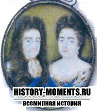 Вильгельм III и Мария, его кузина, на которой он женился в Голландии в 1677 г. Они делили британский трон в течение пяти лет, пока королева не умерла в 1694 г.