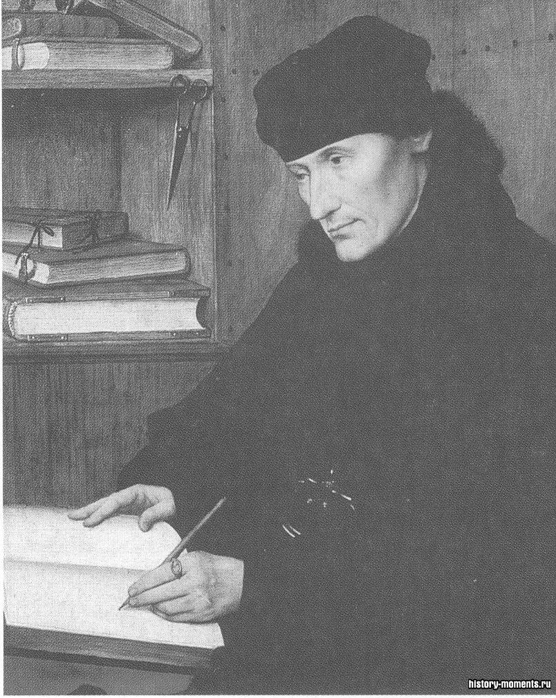 Богослов эпохи Возрождения Эразм Роттердамский стал первым крупным европейским мыслителем, прославившимся благодаря изданию своих трудов.