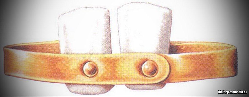 Зубные протезы из костей животных или слоновой кости крепились на золотом ободе.