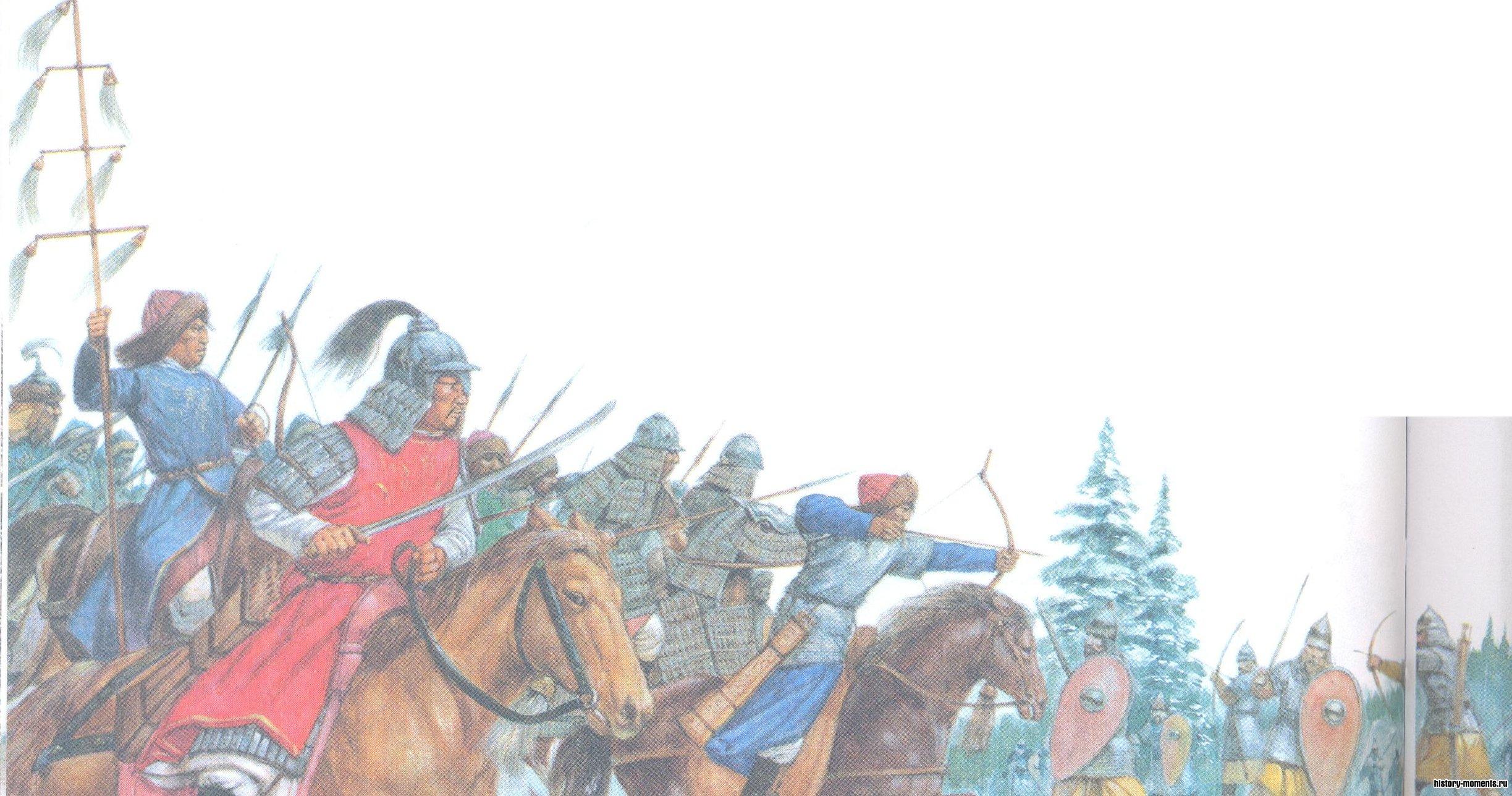 В 1236 г. монгольские всадники вторглись на Русь, сломив сопротивление русских войск и подчинив своей власти огромную территорию, простиравшуюся почти до Северной Европы.