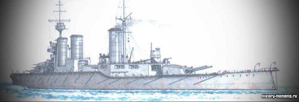 Огромные линкоры, подобные этому британскому броненосцу (дредноуту), принимали участие в Ютландском сражении в 1916 г.