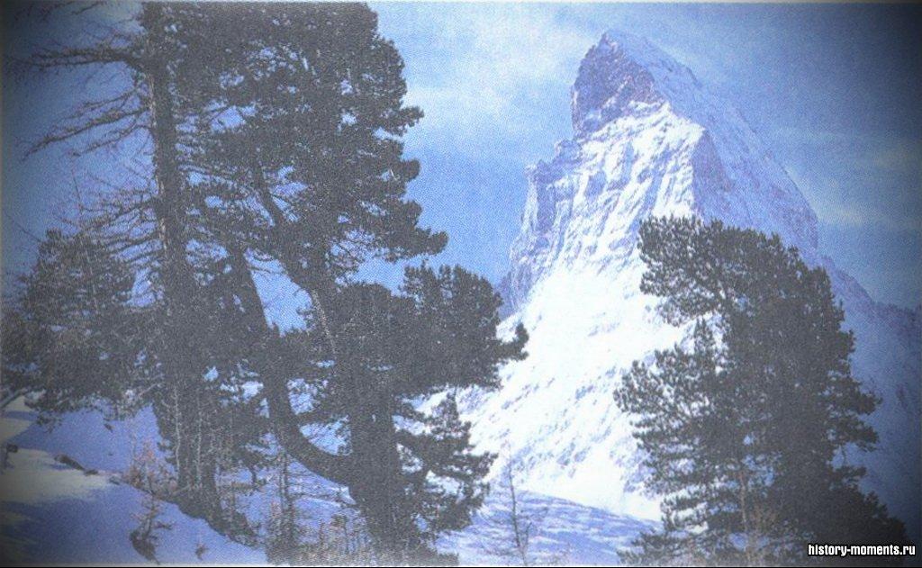 Остроконечный пик горы Маттерхорн в Швейцарских Альпах поднимается на высоту 4478 м. Впервые альпинисты покорили эту вершину в 1865 г., но она привлекает их и по сей день.