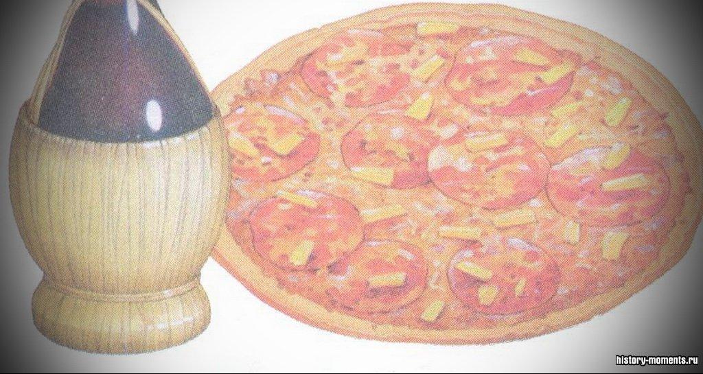 Италия гордится своей превосходной кухней. Сегодня во всем мире очень популярны пицца и итальянские вина, например кьянти.