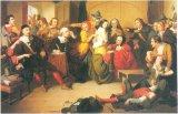 У обвиненной в колдовстве салемской женщины судьи ищут «дьявольскую метку». Считалось, что сатана сосет кровь ведьмы через напоминающий бородавку нарост.