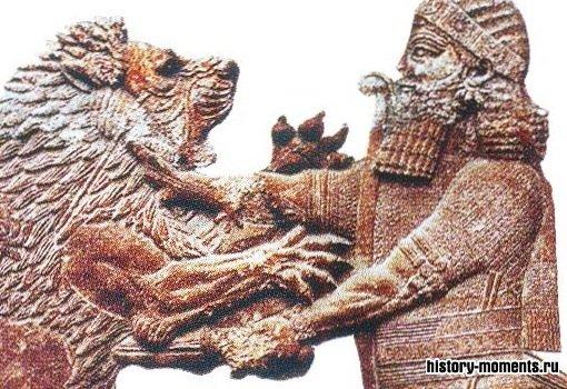 Цари любили охоту, но львов ловили заранее и держали в клетках.