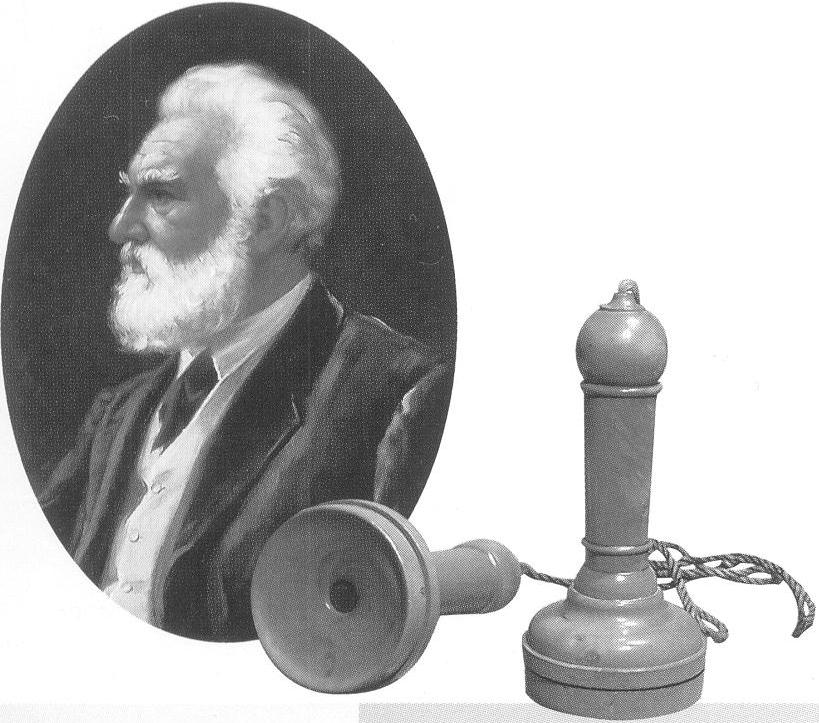 Учитель глухих Белл в 1876 г. изобрел телефон.