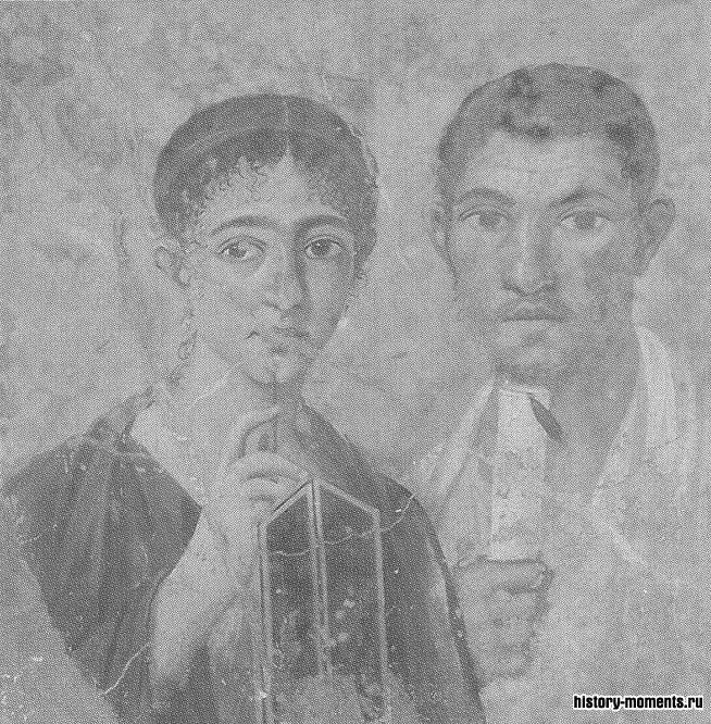 Этот семейный портрет был погребен под руинами Помпей после извержения Везувия в 79 г.