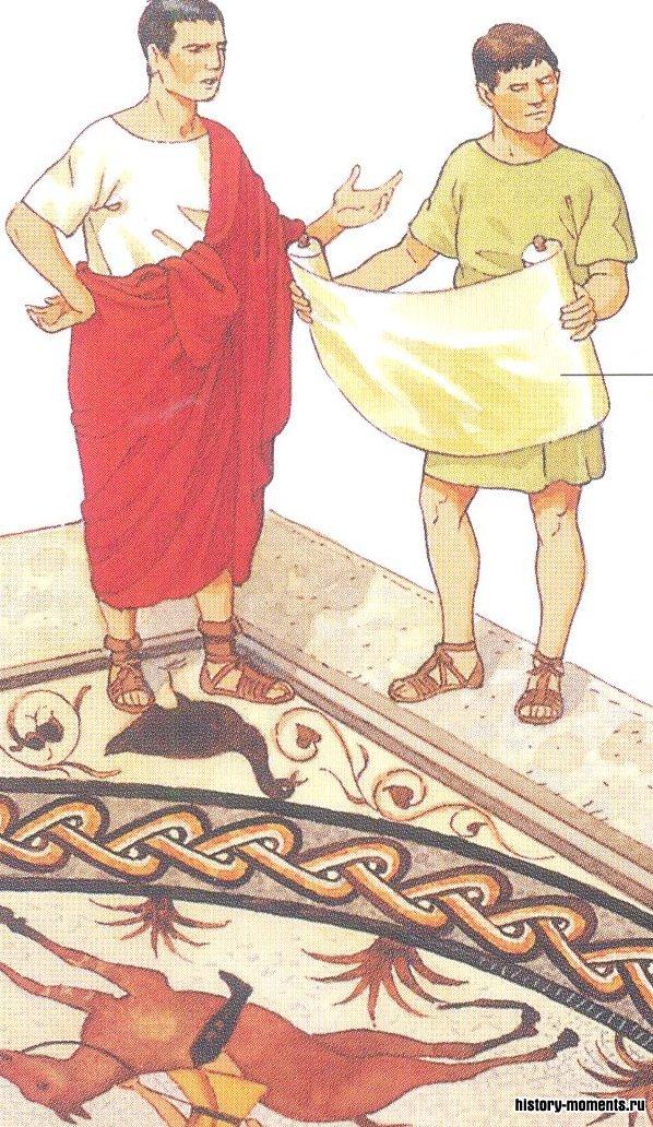 На рисунке показано, как выкладывался мозаичный бордюр. Мастер делал для своих помощников чертеж, которому те должны были следовать.