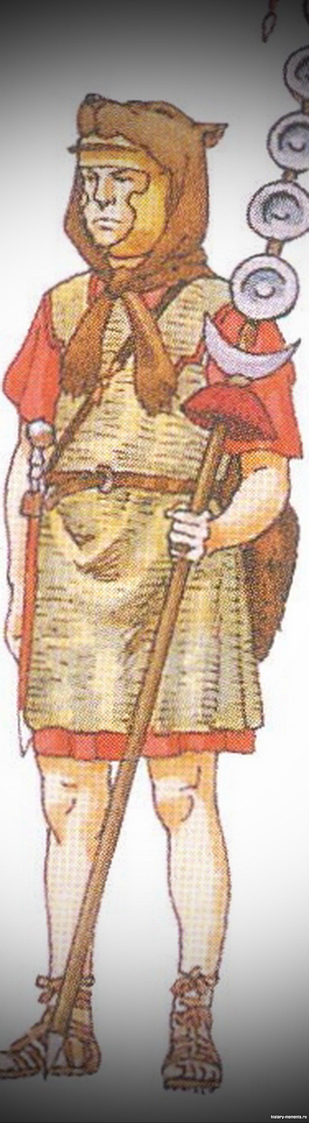 Сигнифер -знаменосец (по одному на центурию).