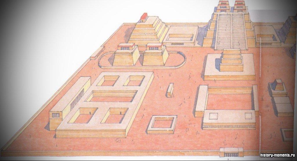 Ацтеки строили гигантские пирамидальные храмы в своей столице Теночтитлан, основанной на островах посреди озера Тескоко в Центральной Мексике. Среди их богов были боги солнца, дождя и ветра. Ацтеки приносили своим богам человеческие жертвы.