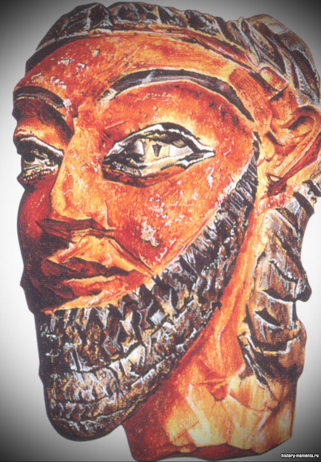 Терракотовая голова касситского правителя.