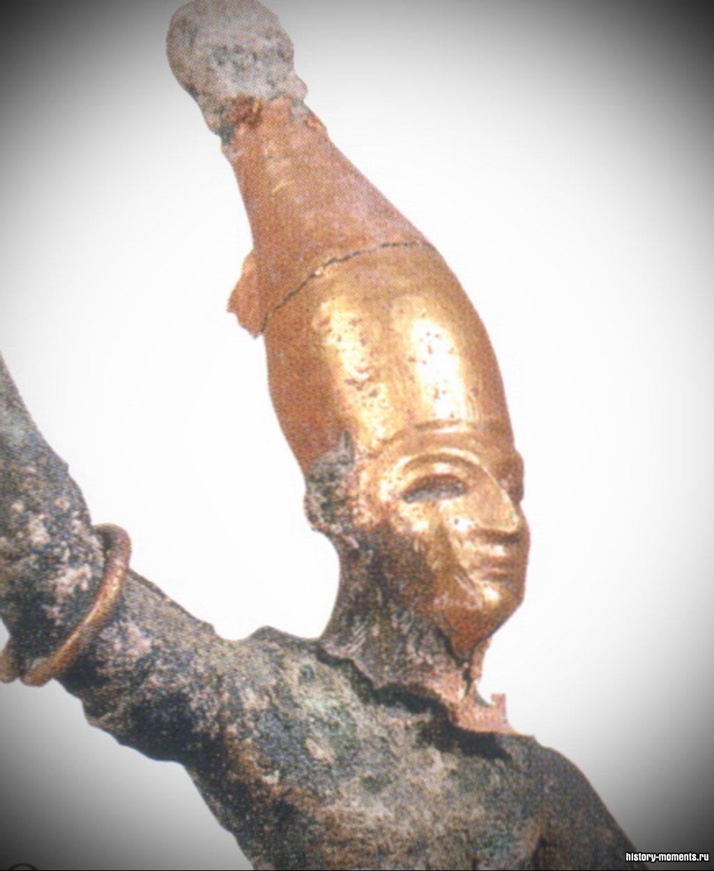 Бронзовая статуэтка Ваала, одного из главных хананейских богов.