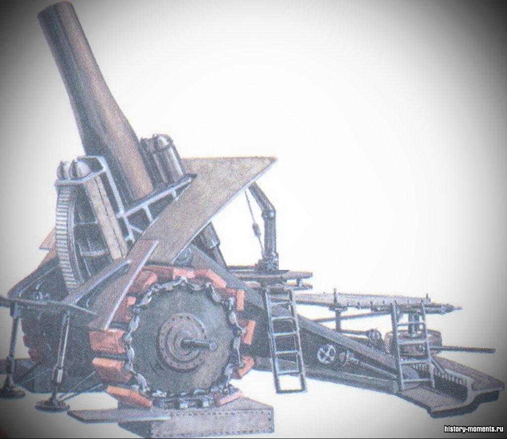 «Большая Берта» - немецкая пушка, которая могла стрелять снарядами весом в 1 т на расстояние в 15 км.